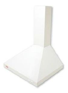 campana cónica con filtro y luz, vacía, blanca anderson