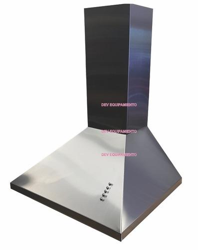campana de cocina 60 cm acero inox. 3 vel. mod. piramidal ds