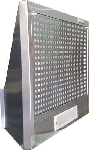 campana de cocina 60 cm acero inox. 3 vel. piramide conica ds