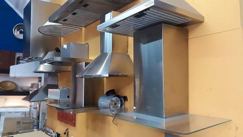 campana de cocina 60cm circular acero inox doble turbina