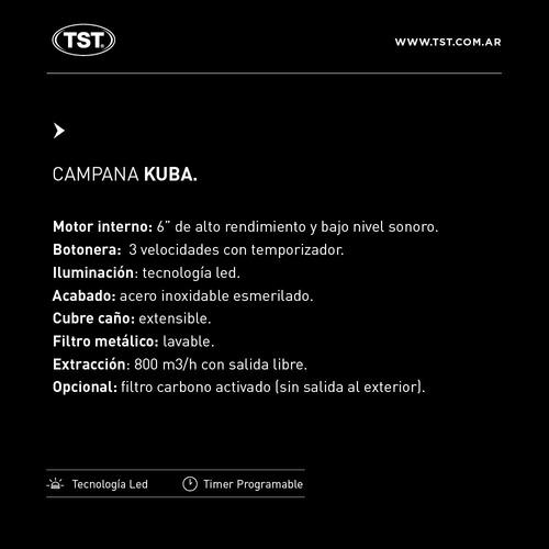 campana de cocina  kuba tst 60 cm
