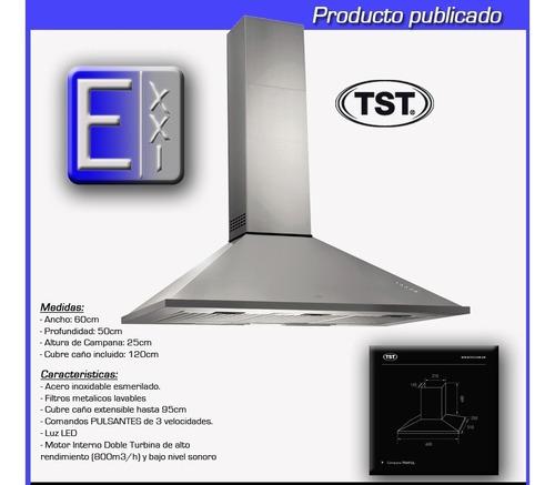 campana de cocina tst traful 60cm pared - 3 vel - envio s/c