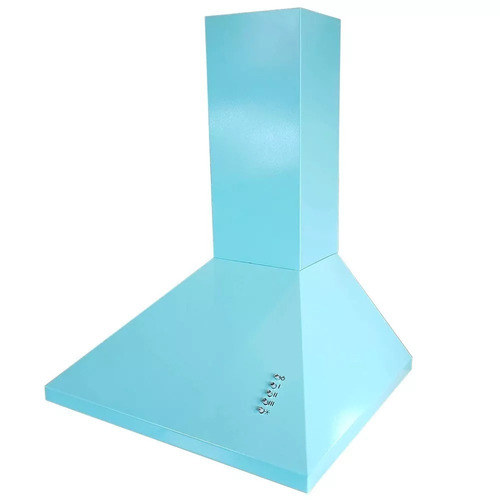 campana extractora de cocina 60 cm piramidal 3 vel turquesa