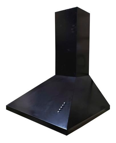 campana extractora de cocina 60 cm piramidal 3 veloc negro