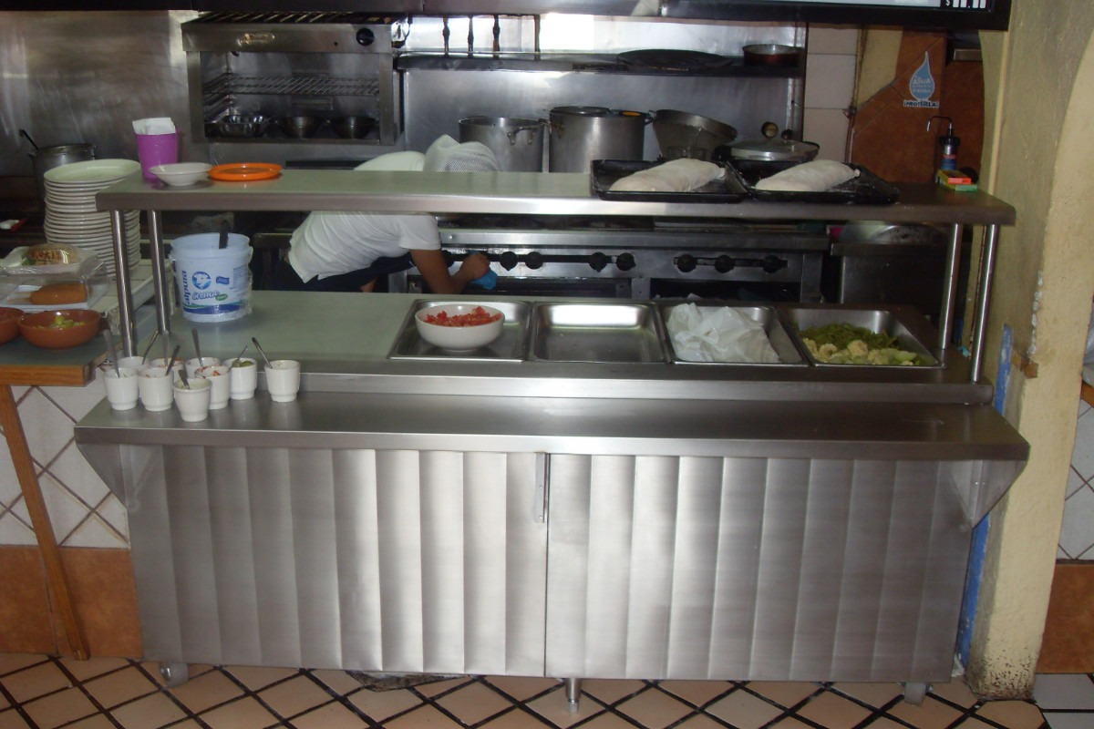 Campana extractora indl x 60 acero inoxidable t 430 for Comedor industrial buffet