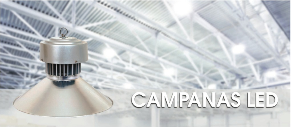 Campana Led Industrial 100 Watts Panel Foco Lampara