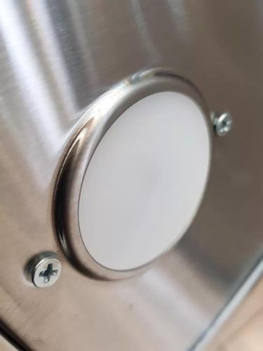 campana luz led cocina slim inox c/motor doble turbina 60cm