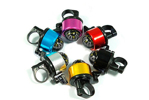 campana metalica con brujula - bicicleta / ciclista / colore