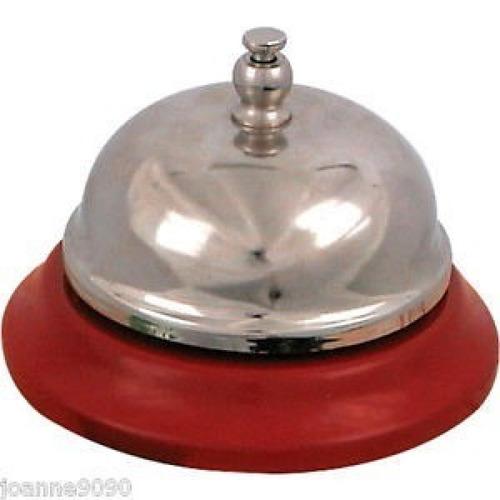 campana metalica recepción hotel, negocio, local, timbre