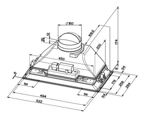 campana purificador spar franke inca box 52cm acero