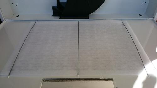 campana purificadora y extractora color blanco de 76cm
