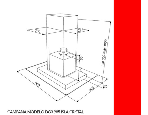 campana teka dg3 985 isla inox  90cm 1200m3/h
