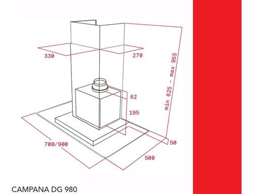 campana teka dg980 ultraslim inox 90cm  1.200 m³/h