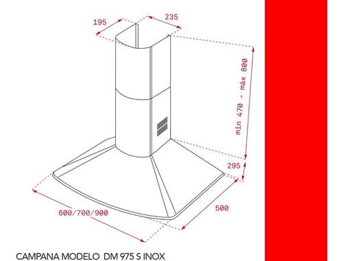 campana teka dm975 s piramidal inox  90cm