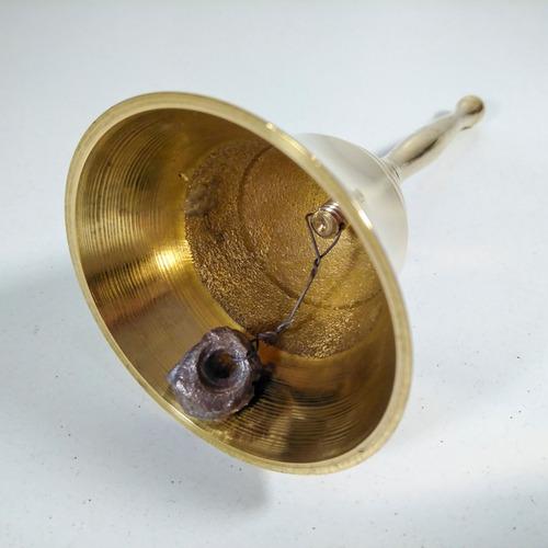 campana tibetana bronce pulido 12cm. india!