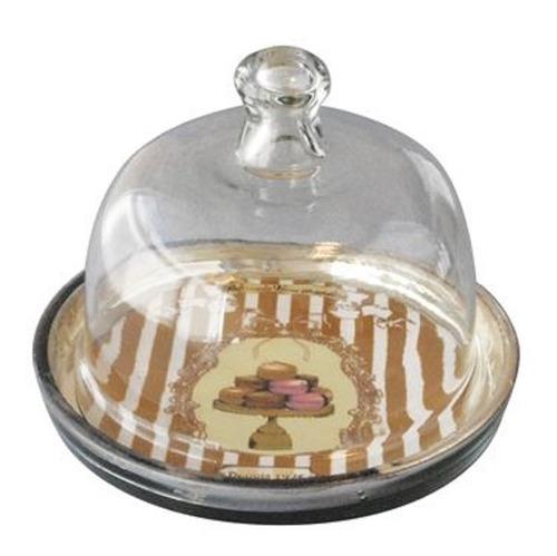 campana vintage de vidrio con base linea madelaine