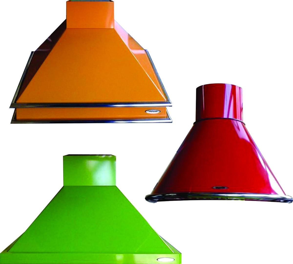 campanas de cocina acero esmaltadas colores