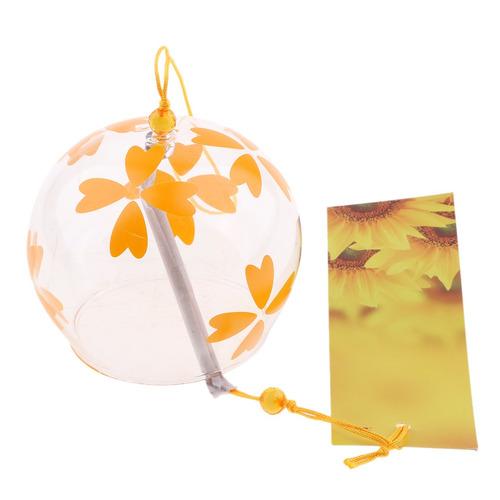 campanas de viento de vidrio de estilo japonés colgando ca