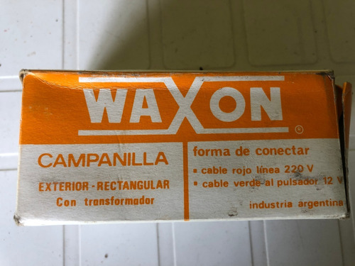 campanilla exterior con transformador waxon