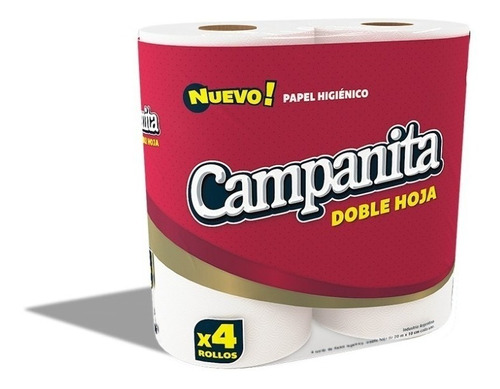 campanita premiun doble hoja 20 mts (pack x 48 rollos)
