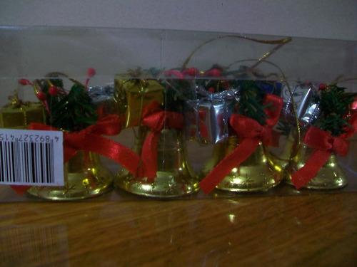 campanitas  navideñas precio x 4 cajas