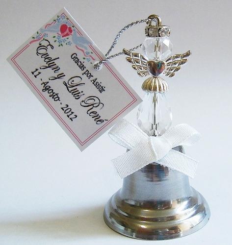 campanitas recuerdo de boda excelente sonido angel