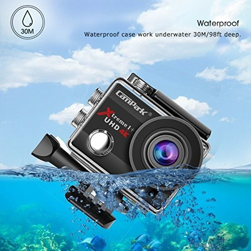 campark act74 action camera 16mp 4k wifi impermeable sports