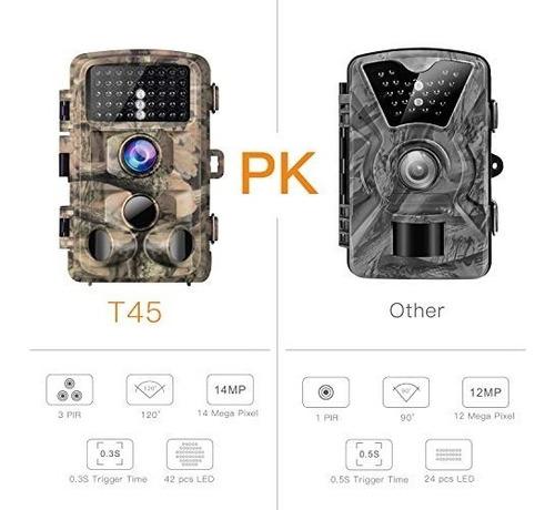 campark trail game camera 14mp 1080p caza impermeable cámara