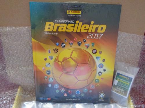 campeonato brasileiro 2017  album capa dura + brinde+frete g