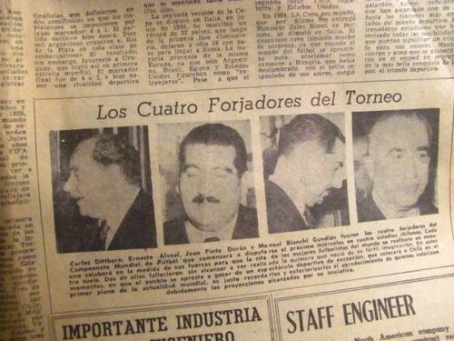 campeonato futbol 1962 a tres días el mercurio