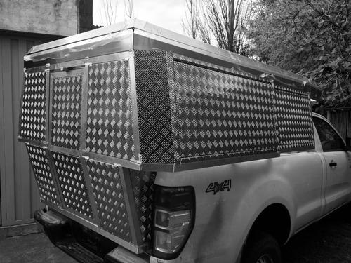 camper  alutrail para camioneta cabina simple