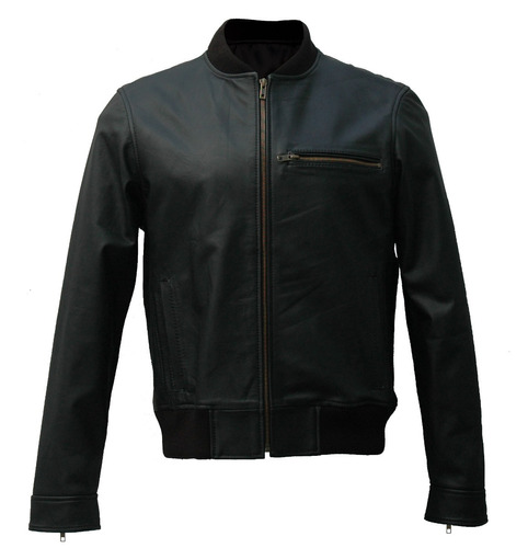 campera 100% cuero bomber hombre liam leather