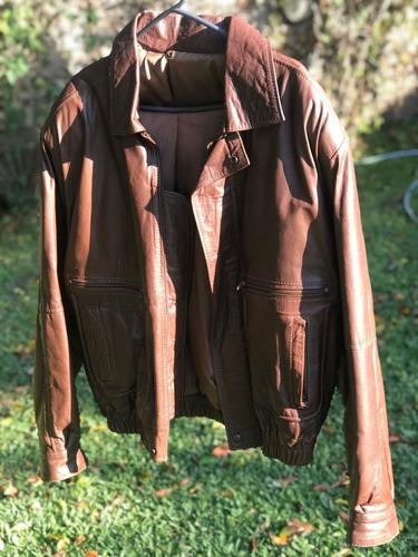 campera 100% cuero marrón hombre de excelente calidad