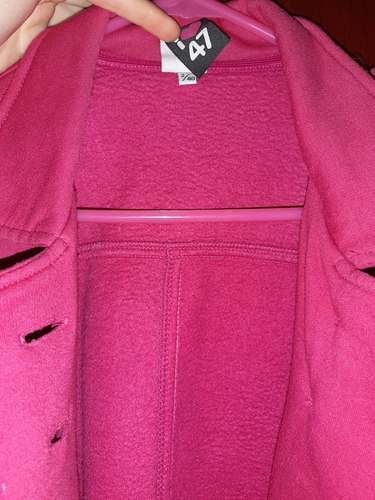 campera 47 street algodon rosa