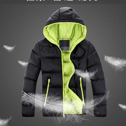 campera abrigo hombre inflable invierno con capucha