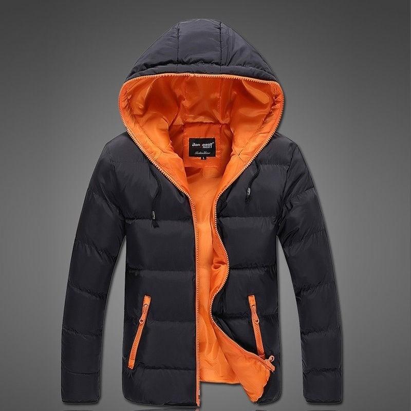 Campera inflable abrigo con capucha hombre invierno fashion