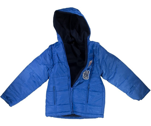 campera abrigo polar varon mangas desmontables chaleco