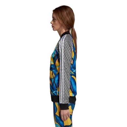 campera adidas sst multicolor mujer- originals