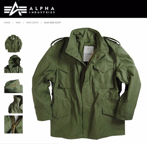 campera alpha industries m65 parka militar