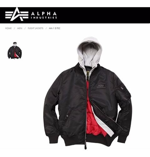 campera alpha industries ma1 d tec aviadora original
