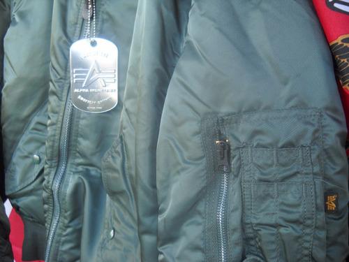 campera aviadora alpha made in usa - no china original