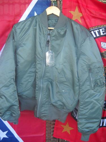 campera aviadora alpha made in usa - no china original mediu