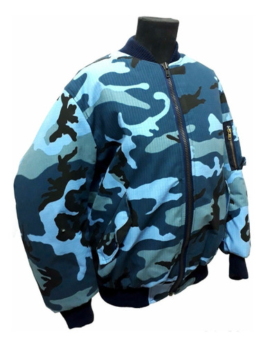 campera aviadora camuflado azul servicio penitenciario spb