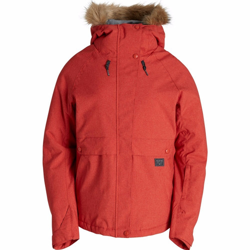 campera billabong tundra snowboard nieve rojo mujer