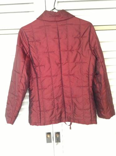 campera bordo impermeable importada bolsillos  poco uso