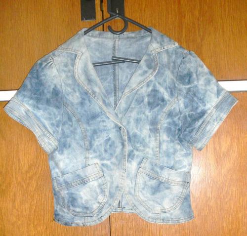 campera chaleco saco corto jean celeste nevado marga corta