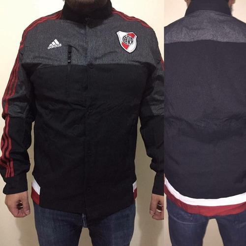 campera chaqueta adidas river plate negra