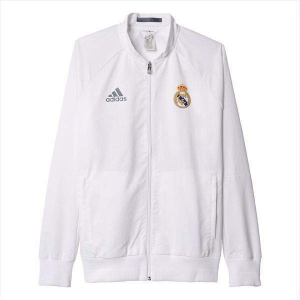 chaqueta adidas real madrid blanca