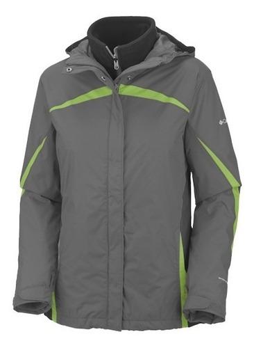 campera columbia argon ice jacket mujer sistema 3 en 1