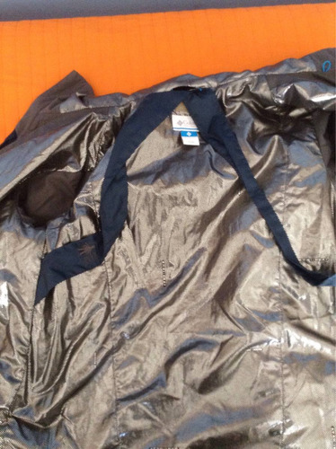 campera columbia omni-heat impermeable con mochila